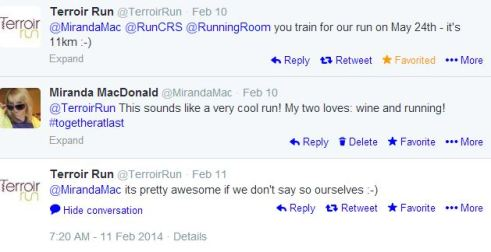 terroir run tweets