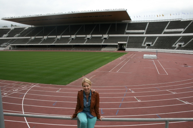 I visited a track in Finland. I just didn't run on it. (Olympic Stadium, Helsinki)