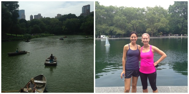 Running in new york city Central Park